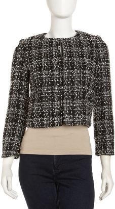 Alice + Olivia Pearl-Bead Tweed Jacket