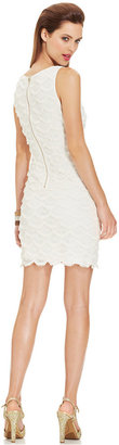 GUESS Sleeveless Fringe-Lace Sheath