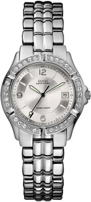 GUESS Silver-Tone Dazzling Midsize Sport Watch