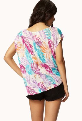 Forever 21 High-Low Frond Tee