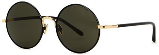 Linda Farrow Luxe Welch Black Round-frame Sunglasses