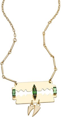 Swarovski Michael Spirito Gold And Razor Tooth Necklace