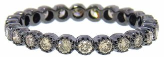 Ring Black Sethi Couture Brown Diamond Bezel Band Ring - Black Gold
