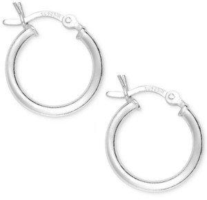 "Giani Bernini Sterling Silver Small Hoops, 5/8"""