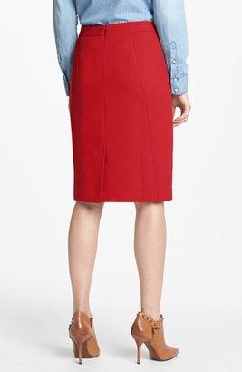 Halogen Seamed Pencil Skirt (Petite)
