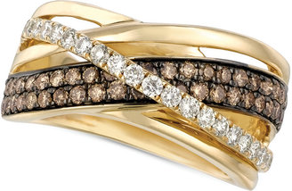 Le Vian Chocolate and White Diamond Crossover Ring in 14k Gold (9/10 ct. t.w.) $4,300 thestylecure.com