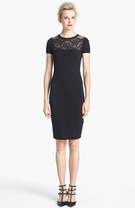 RED Valentino Short Sleeve Lace Detail Dress