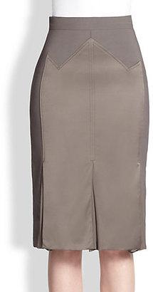 Carolina Herrera Silk Detail Godet Skirt