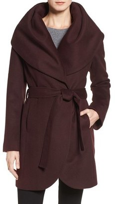 Women's T Tahari Wool Blend Belted Wrap Coat $348 thestylecure.com