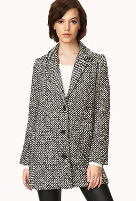 Forever 21 Fancy Marled Trench Coat