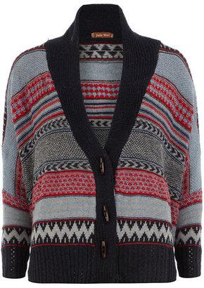 Dorothy Perkins Blue skull knitted cardigan