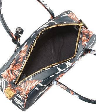 Prada Saffiano Hula-Print Bowler Bag