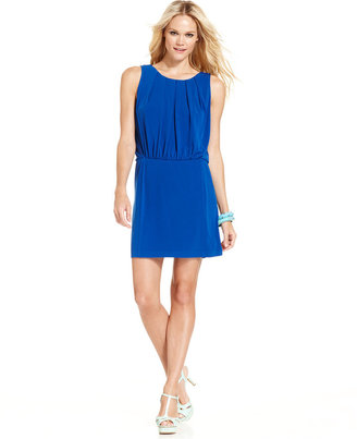 Jessica Simpson Sleeveless Pleated Blouson Dress