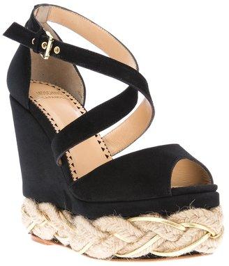 Moschino Cheap & Chic braided platform wedge sandal