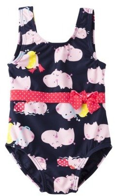 Carter's Just One You® by Infant Toddler Girls' Hippopotamus 1-Piece Swimsuit