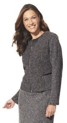 Merona Women's Zip Front Doubleknit Jacquard Jacket - Assorted Colors