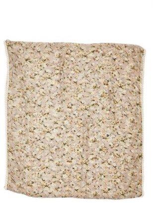 Lulu Lace Trim Floral Infinity Scarf (Juniors)