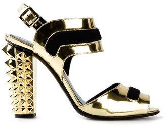 Fendi studded heel shoe