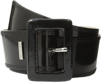 Calvin Klein 2 1/8 Patent Covered Buckle (Black) - Apparel