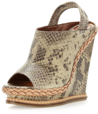 Boutique 9 George Snake-Print Slingback Wedge
