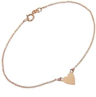 Jennifer Meyer Heart Bracelet - Rose Gold