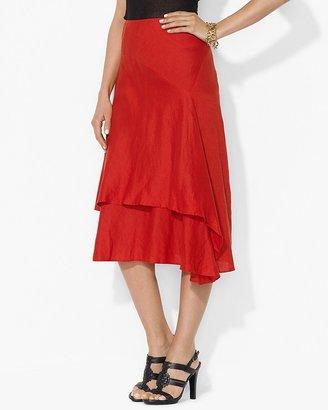 Lauren Ralph Lauren Asymmetric Linen Skirt