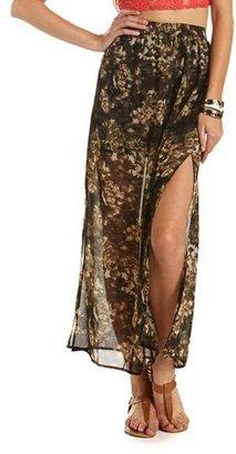 Camo Print Maxi Skirt