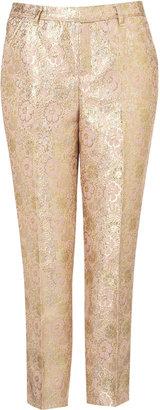 Topshop Pastel Floral Jacquard Trousers