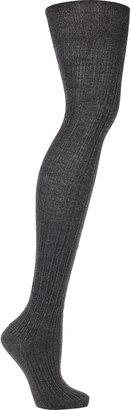 Miu Miu Metallic ribbed wool-blend socks