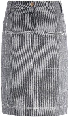Altuzarra Monsoon striped pencil-skirt