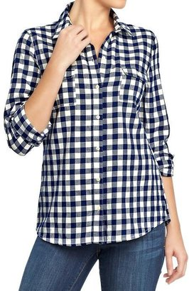 Old Navy Women's Plaid Flannel Shirts