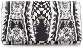 Roberto Cavalli patterned clutch