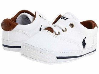 Polo Ralph Lauren Vaughn (Infant/Toddler) (White Canvas) Kids Shoes
