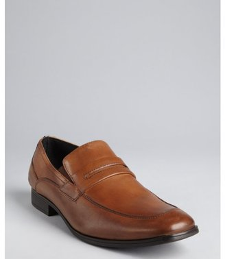 Kenneth Cole Reaction cognac leather 'Ghost Town' square toe penny loafers