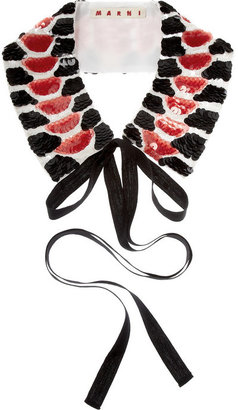 Marni Sequined cotton collar