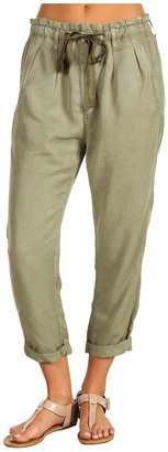 AG Adriano Goldschmied Paper Bag Crop in Olive (Olive) - Apparel