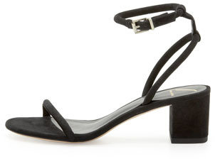 Brian Atwood Kelston Block-Heel Ankle-Wrap Sandal