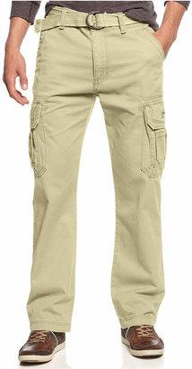 Unionbay Men's Survivor Belted Cargo Pants $52 thestylecure.com