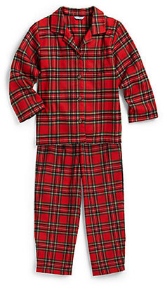 Hartstrings Toddler's & Little Boy's Two-Piece Plaid Pajama Set