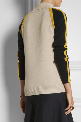Chloé Tri-tone wool and cashmere-blend sweater
