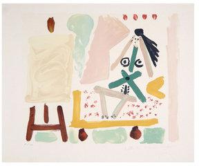 Le Modele Dans l'Atelier by Pablo Picasso (Lithograph)