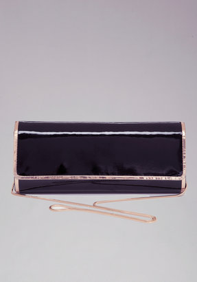Bebe Elongated Metallic Pipe Clutch