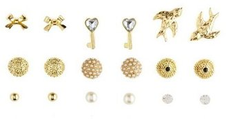 Charlotte Russe Key to your Heart Earring Set