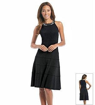 Anne Klein Embellished Neckline Dress