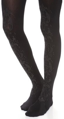 Alice + Olivia by Pretty Polly All Over Baroque Tights