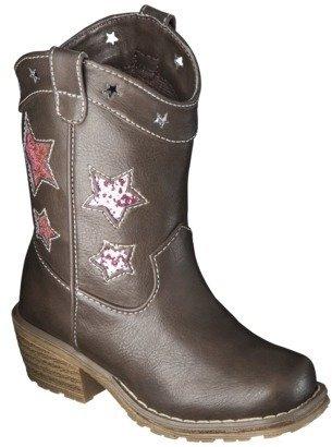 Girl's LA Underground Kaydence Cowboy Boot - Brown