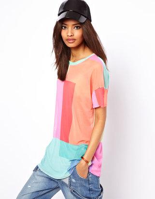 Asos T-Shirt in Multi Coloured Mesh