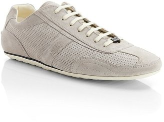 HUGO BOSS 'Thanto' | Perforated Suede Sneaker by HUGO