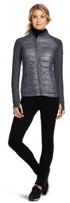 Calvin Klein Women's Quilted Jacket With Knit Sleeves