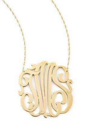 Jennifer Zeuner Three-Initial Pendant Necklace $325 thestylecure.com